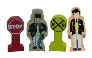 Thomas & Friends Accessories (Mr. Percival & Sir Topham Hatt Deluxe Accessory Figure Pack - Thomas & Friends Wooden Railway Tank Train Engine - Brand New Loose)