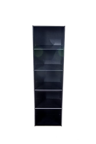 Home Source Industries US3143 BLACK 5-Cube Utility Cabinet, (Height Modular Storage Drawer Cabinet)