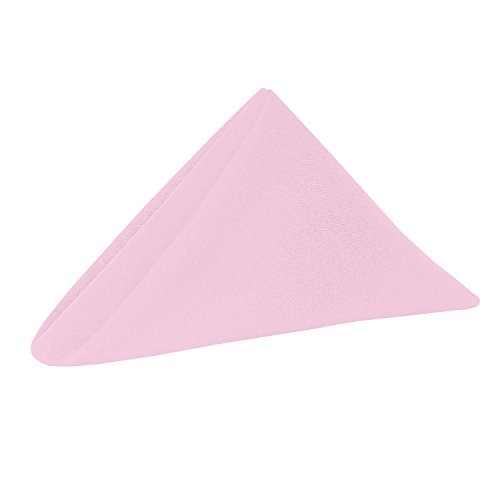 Ultimate Textile -3 Dozen- Cotton-Feel 17 x 17-Inch Cloth Napkins, Light Pink by Ultimate Textile (Image #1)