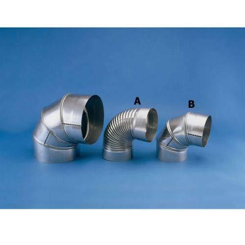 Chimney 21655 Heat-Fab Rigid Chimney Liner - 304-SS - 6 Inch - 90 Degree Elbow