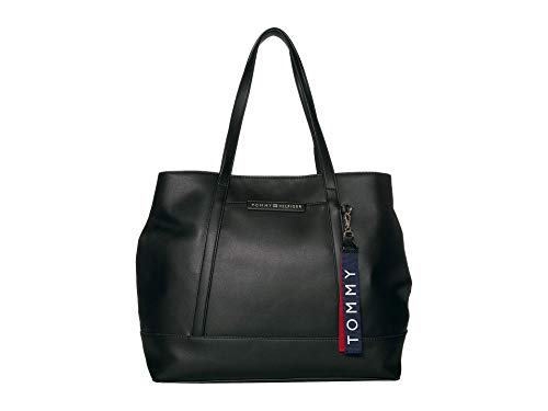 Tommy Hilfiger Lottie Smooth PVC Tote Black One Size