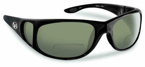 Flying Fisherman Nassau Bifocal Master Polarized Polcarbonate Bifocal Angler Sunglasses (Matte Black Frame, Smoke +2.00 Power Lens)   B015270OK6