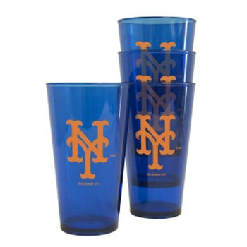 Boelter New York Mets Plastic Pint Glass Set