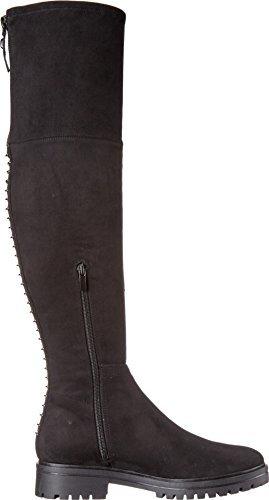 KENDALL + KYLIE Women's Jasper2 Black Fabric/Super Fine Suede Shoe