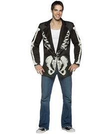 Blazer Bones Adult Costumes (Rasta 7641 Bones Blazer with Jacket)