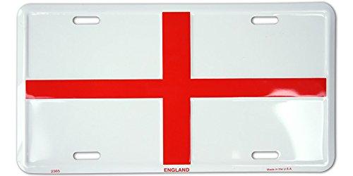 England St George Flag License Plate