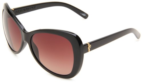 Electric Women's Magenta Oversized, Gloss Black Frame/Brown Gradient Lens, one size Brn 1 Brown Sunglasses