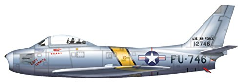 F-86E Sabre 1/72 Die Cast Model, Westcott and Gabreski, 25th FIS/51st FIW, Oct 1951 - Hobby Master Diecast Models