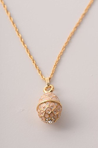 Keren Kopal Gold & Pink Fabrege Styled Pendant Necklace, used for sale  Delivered anywhere in USA
