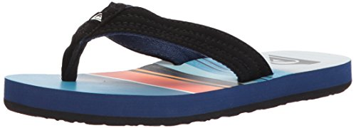 Quiksilver Boys' Basis Youth Sandal, Black/Red/Blue, 5 M US Big Kid