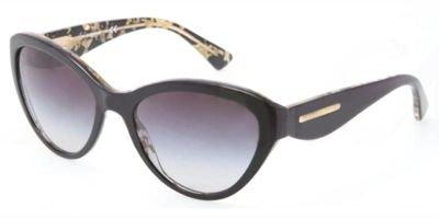 Dolce&Gabbana DG4199 Sunglasses-27448G Black/Leaf Gold (Gray Grad - And Gabbana Sunglasses Dolce Gold Leaf
