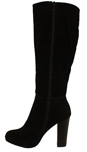 High 03 Ringo Closure Black Boots Refresh Chunky Knee Heel Women's Dress Zipper Side High awqEHWxIH5