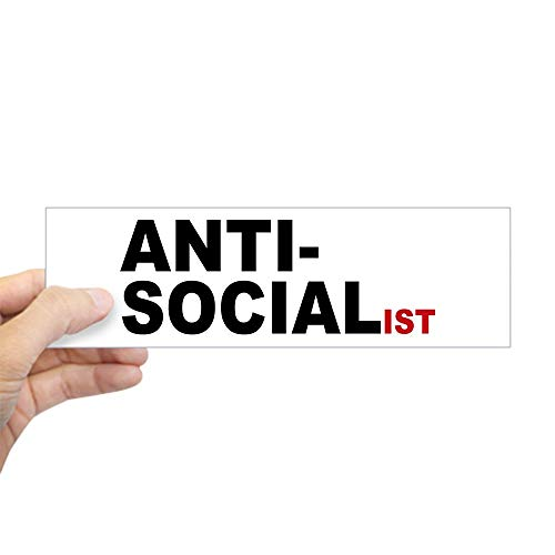 "CafePress Anti Socialist 10""x3"" Rectangle Bumper Sticker Car Decal"