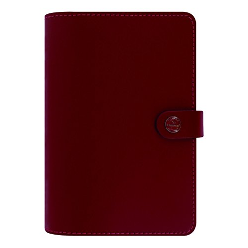 Filofax The Original Leather Organizer, Pillarbox Red, A5 (8.25 x 5.75) Any Year Planner with to do and Contacts Refills, Indexes and notepaper (C022380)