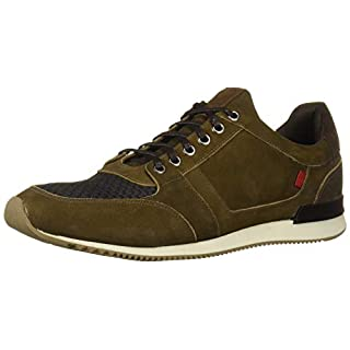 Marc Joseph New York Men's Genuine Leather Made in Brazil Luxury Fashion Trainer Sneaker, Olive Nubuck, 7 M US