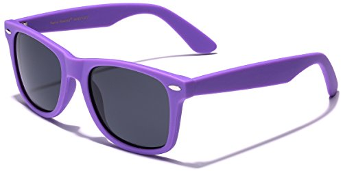 Retro Rewind Classic Polarized Sunglasses Purple | Smoke Polarized (Purple Sunglasses)