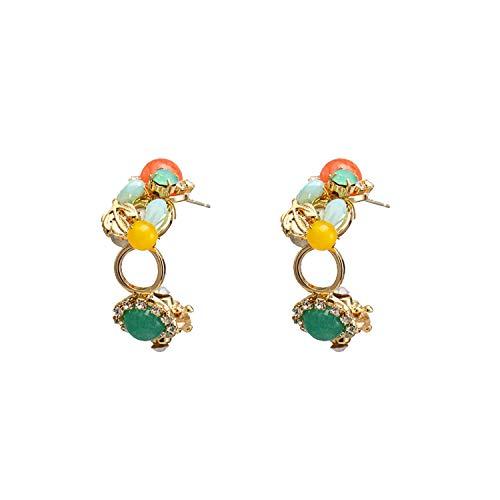 (INDEPENDENT-NEWBIE 2019 Exquisite Luxury Rhinestone Crystal Stud Earrings Stone Geometric Statement Earringsfemale Wedding Jewelry)