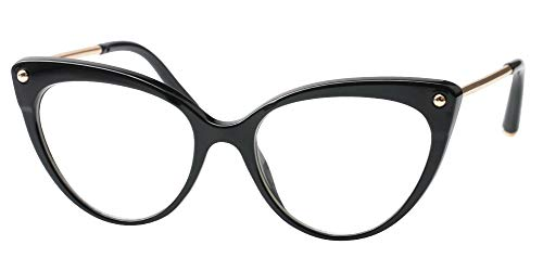 96b1f7c4ef SOOLALA Ladies Oversized Cat Eye Reading Glass Modern Eyeglass Frame