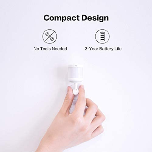 Aqara Motion Sensor plus Aqara Hub, Zigbee Connection, for Alarm System and Smart Home Automation, Broad Detection Range, Compatible with Apple HomeKit, Alexa 31B8MVrb0DL