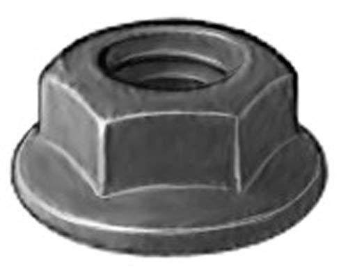 100 M6-1.0 Hex Flange Nuts Black Phosphate GM 11503745
