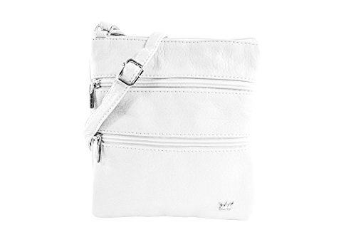 - Purse King Countess Cross Body Bag (French Vanilla - White)