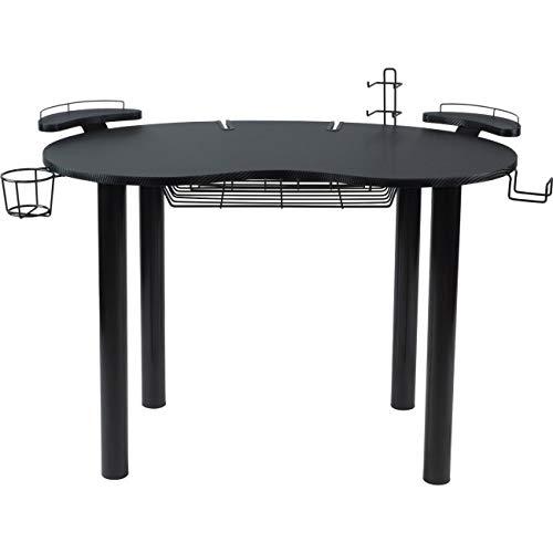 Atlantic 82050334 Space-Saving Gaming Desk Carbon Fiber Texture, Black