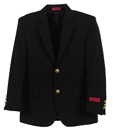 Gioberti Little Boys Formal Black Blazer Jacket, Size 4T by Gioberti