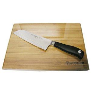 Wusthof Grand Prix II 7 inch Santoku Knife with Bamboo Cutting Board