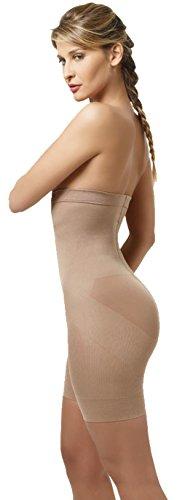 Lupo Loba Slim Women's Hi-Rise Shorts with Opening Shapewear Nude Large