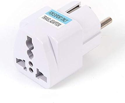 US Plug Adapter 2-pin Socket Travel Adapter Converter AC Power Wall Plug New AMS
