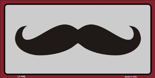 Moustache Novelty Vanity License Plate Tag Sign