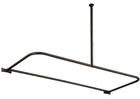 Elements of Design ED3135 D-Type Shower Rod, Oil Rubbed Bronze (Rod Shower Type)