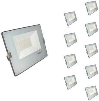 Foco LED exterior 50 W IP65 – azul gris (Pack de 10) – blanco frío ...