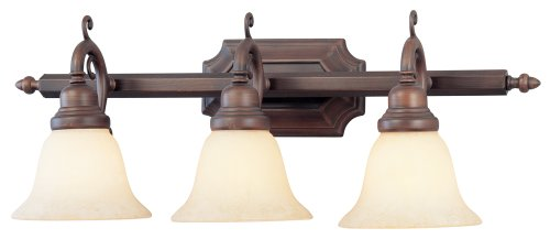 Livex Lighting 1193-58 French Regency 3-Light Bath Light, Imperial Bronze ()