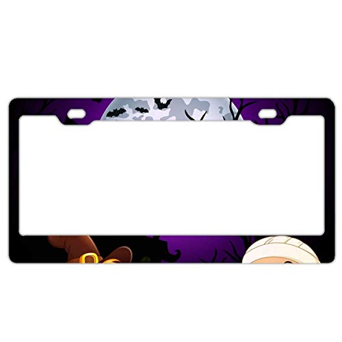 YEX Abstract Halloween Costumes mummy3 License Plate Frame Car Licence Plate Covers Auto Tag Holder 6