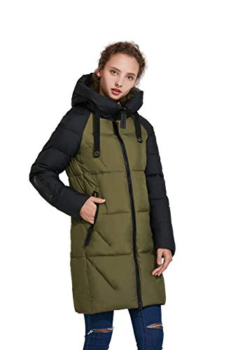 ICEbear Women's Thickened Casual Down Jacket Hooded Mid-Length Down Puffer Jacket Coats ()