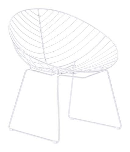 Zuo Lounge Chair, One Size, White (Zuo Patio Chair)