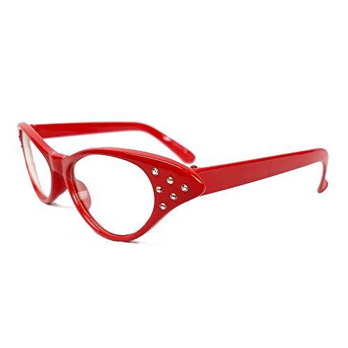 50f5b11ad NorNovelties 50s Cat Eye Glasses - for Women Men Kids – Set of 3 Cat ...