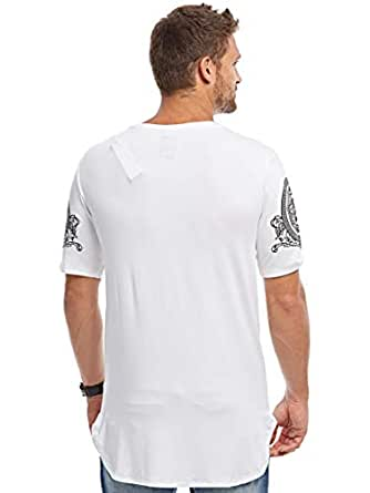 Afterlife White Round Neck T-Shirt For Men