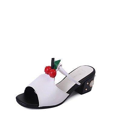 Women'szapatillas &Amp; Flip-Flops Primavera Verano Confort Casual PU Chunky tal¨®n US6.5-7 / EU37 / UK4.5-5 / CN37