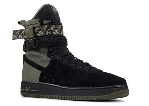Nike Men's SF AF1 Black/Black/Medium Olive Casual Shoe 8 Men -