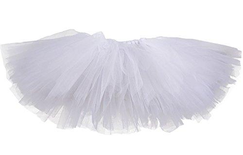 [Tutu Dreams Tutu Skirts for Girls (2- for 1-2T, White)] (White Leotard Halloween Costume)