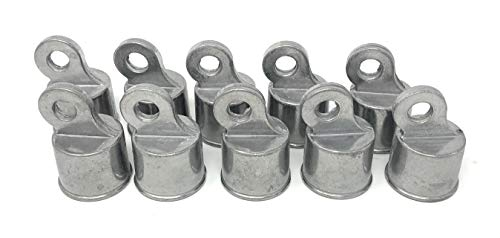 Chain Link Fence Rail Ends Aluminum 10 Pc Pack 1-3/8 ()