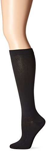 Dr. Scholl's Women's Travel Knee High Socks with Graduated Compression, Black Floral, Shoe Size: - Diabetic Socks Children