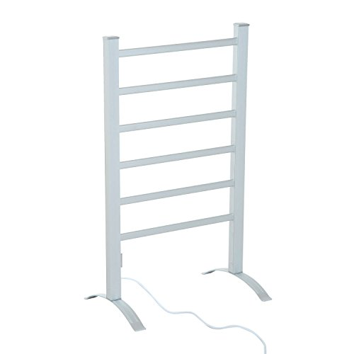 HomCom 6-Bar Freestanding Lightweight Aluminum Electric Towel Warmer Drying Rack