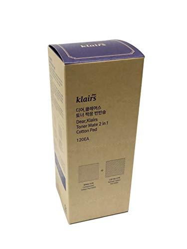 Klairs Cotton Rounds, 120EA Makeup Remover and Facial Cleansing Round Cotton Pads (Best Cotton Pads For Toner)
