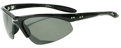 Jimarti JMP8 Polarized Sunglasses for Golf, Fishing, Cycling & Party (Black & Smoke)