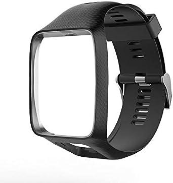 N/V Correa de reloj para Tom Tom 2 3 Series Correa de silicona de repuesto para reloj TomTom Runner 2 3 GPS