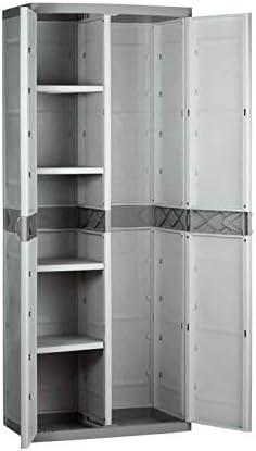 Plastiken (HLKRQ) Titanium Armarios, Beige, 70x44x176 cm: Amazon ...