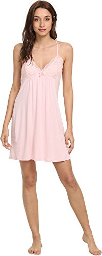 GYS Women's Bamboo Chemise Nightgown, Pink, X Large